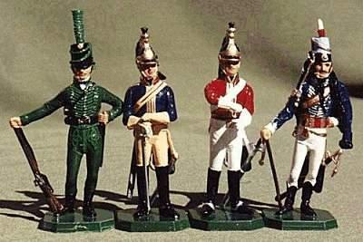 Lead soldier napoleonic bonaparte volunteers 1800-hussar figure