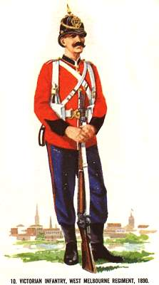 10 victorian infantry west melbourne regiment 1890
